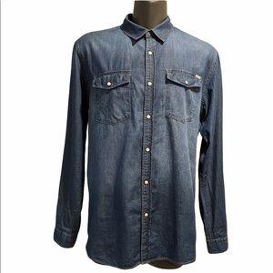 Jack & Jones denim button front shirt XXL